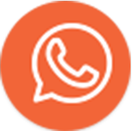 Whatsapp icon orange